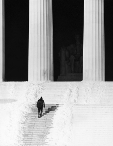 Lincoln Memorial after Snow Storm